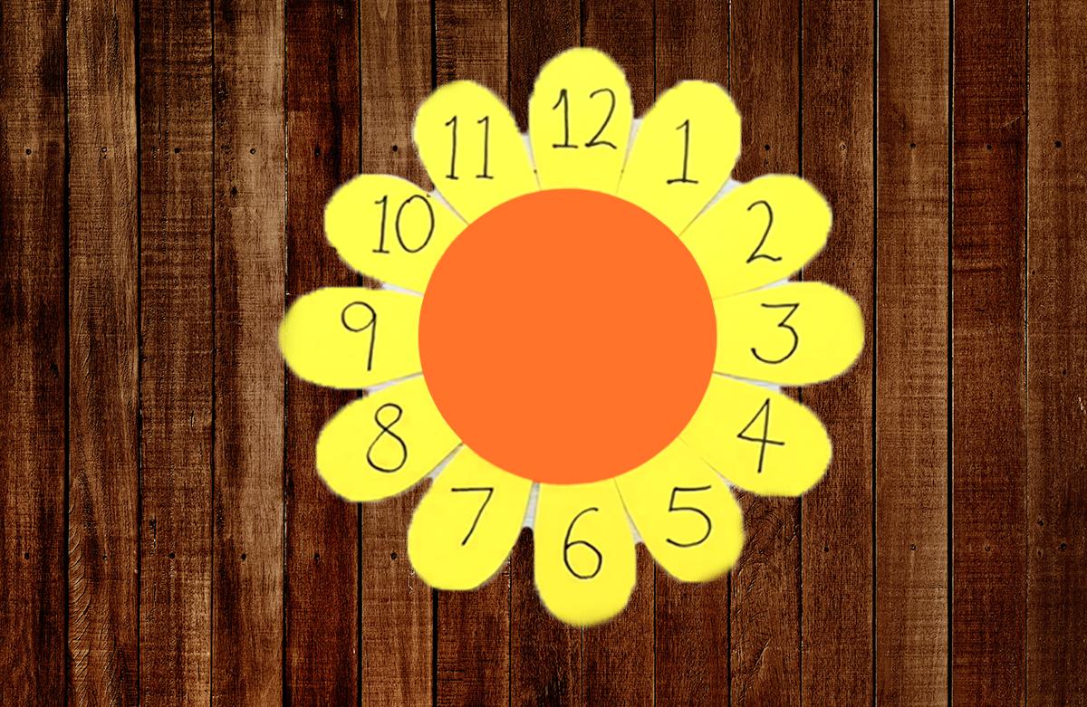 Sunflower Clock Laboratorio Creativo per Bambini in Inglese tra Padova e Vicenza