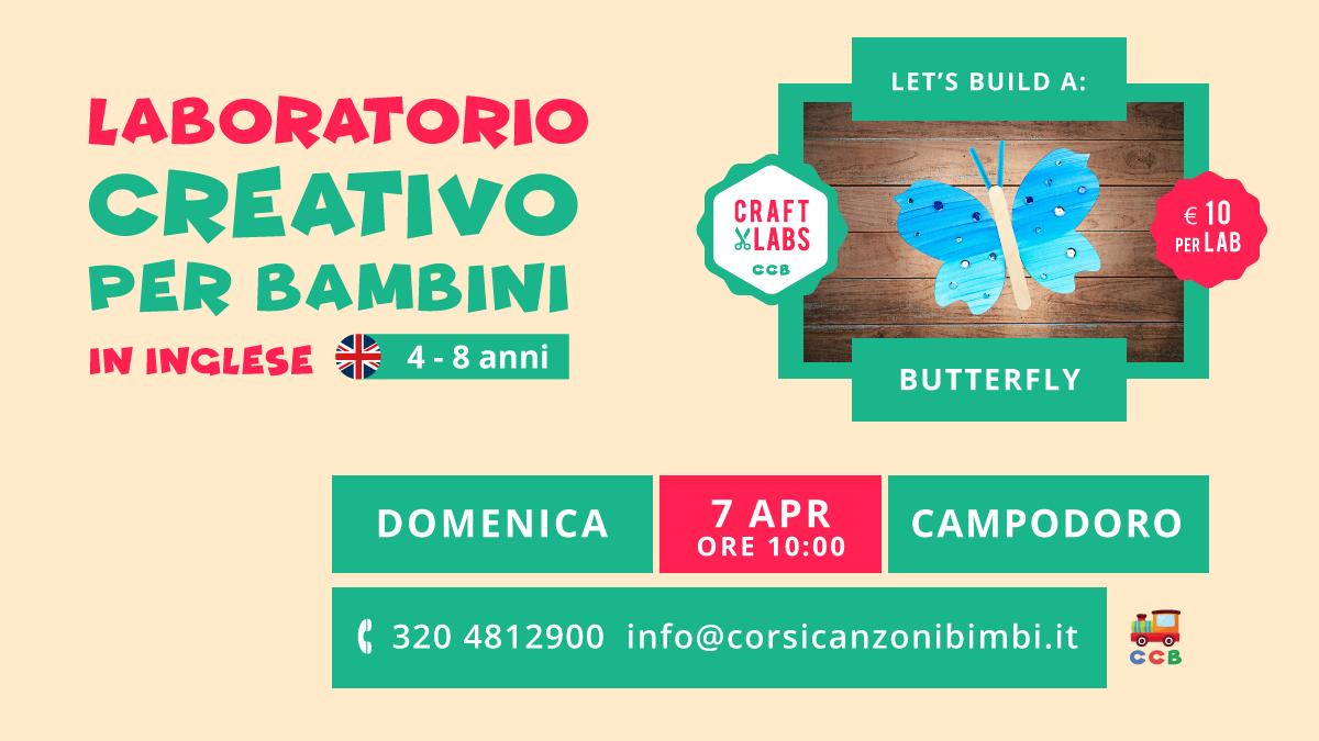 Butterfly il Laboratorio Creativo per Bambini in Inglese tra Padova e Vicenza