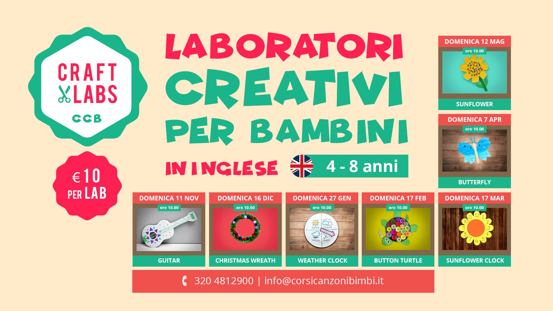 Laboratori Creativi per Bambini in Inglese tra Padova e Vicenza