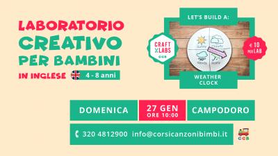 Laboratorio Creativo per Bambini in Inglese tra Padova e Vicenza