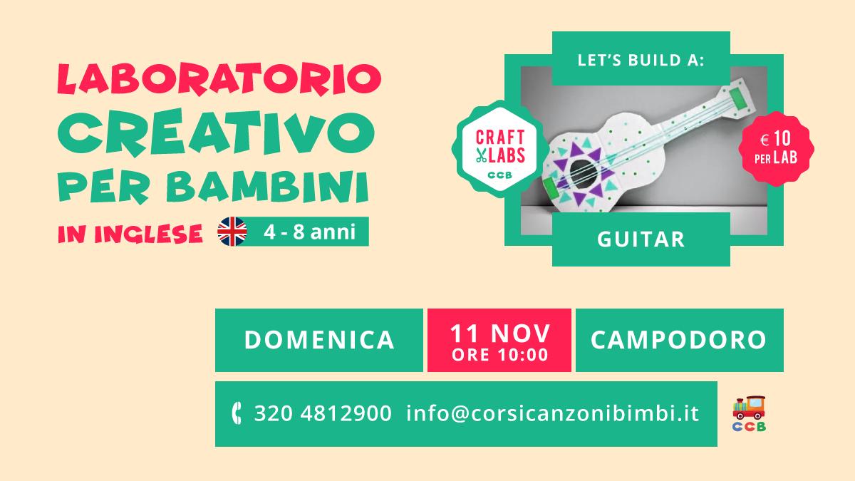 Guitar Laboratorio Creativo per Bambini in Inglese tra Padova e Vicenza